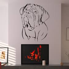 appaeling dog wall decal over modern built in fireplace added appaeling dog wall decal over modern built in fireplace added white wall painted living areas decorating ideas