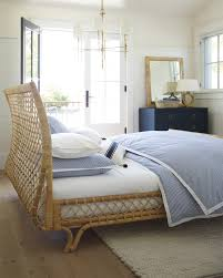 a coastal casual master bedroom avalon bed via serena u0026 lily