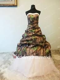 best splendid sweetheart floor length pink camo wedding dress