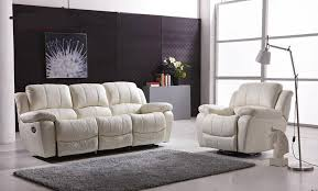 Recliner Leather Sofa Set Modern Recliner Leather Sofa Set With Genuine Leather Manual In
