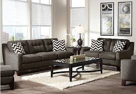 Rooms To Go Living Room Furniture by Cindy Crawford Home Hadly Gray 8 Pc Living Room Living Room Sets