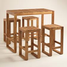 World Market Outdoor Chairs by Wood Praiano Outdoor Bar Table Bar Tables Outdoor And Products