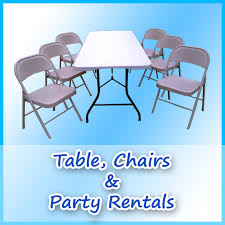 tables and chair rentals a bounce above party for san diego bounce house rentals