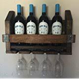 amazon com napa valley reclaimed wood wine rack home u0026 kitchen