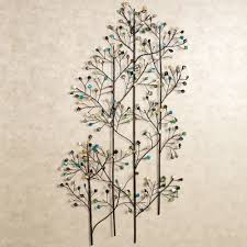 charming natural plant design for metal wall art and decor leaves