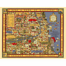 Neighborhoods In Chicago Map by Chicago Gangland Map Poster Al Capone Chicago And Products