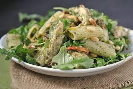 pasta salad pesto grilled pesto chicken pasta salad with sun dried tomatoes arugula