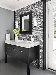 fabulous mosaic wall decor with superb black vanity using white