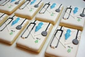 Decorated Sugar Cookies – Doctor Coats – Decorated Sugar Cookies