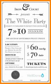 7 invitation white party resume sections