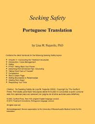 Seeking Ver Seeking Safety In Portuguese Client Handouts Only