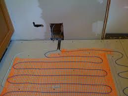 Heated Bathroom Rug Kitchen Diy Heated Floor And New Tile Andy Idsinga Make Bathroom