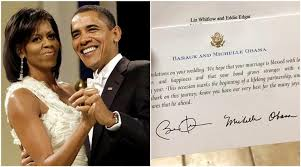 the obama s this woman sent a wedding invitation to the obamas and got the
