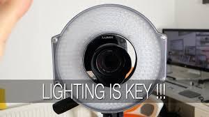 best led ring light f v hd r 300 led ring light review youtube