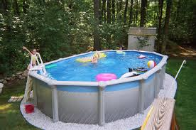 Pool Landscape Pictures by Outdoor Beautiful Design Above Ground Swimming Pools With Decks