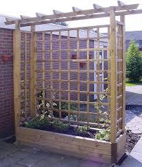 tuin 2m pergola garden planter wooden framed arch planter