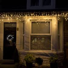 64 led warm white connectable icicle lights 2m width outdoor