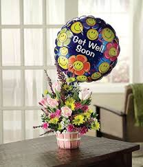 get balloons delivered basket of well wishes with get well balloon at from you flowers