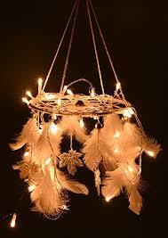 Garden Bedroom Decor Buy Rooh Dream Catcher White Light Handmade Hangings For Home