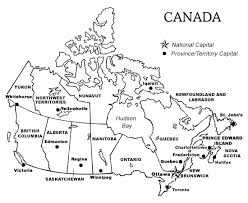 canadian map capitals printable map of canada with provinces and territories and their
