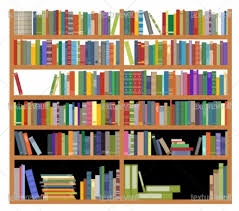 Bookcase With Books Bookshelf With Books Royalty Free Texture Stock Photo