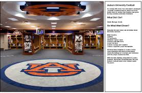 auburn university locker room by spencer battle at coroflot com