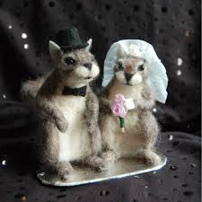 squirrel cake topper facci designswork