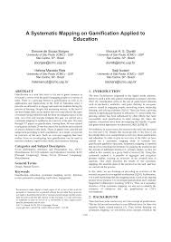 a systematic mapping on gamification applied to education pdf