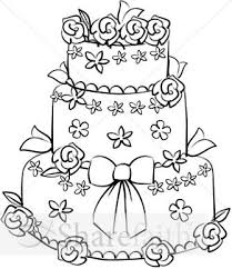 wedding cake outline pagemaker wedding clipart 32