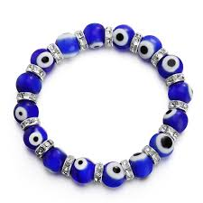 diy glass bead bracelet images Turkish evil eye murano glass bead beaded bracelet with rondelle jpg