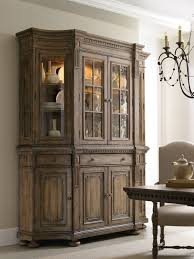 hooker dining room furniture sorella shaped credenza with four door hutch by hooker furniture