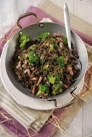 cuisiner les brocolis lentilles vertes au brocoli en salade recette tangerine zest