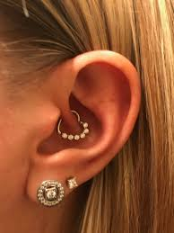 heart cartilage my new 16 clear cz heart left closing daith cartilage tragus