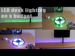 led light desk l budget led desk lighting contents test installation finished for led