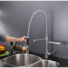 kitchen kraus commercial pre rinse chrome kitchen faucet t u0026 s