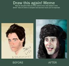 Jared Leto Meme - draw this again meme jared leto by speck of dust on deviantart