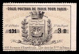 bureau de poste proximit 1870 s local parcel post stamp used vf esp 9249