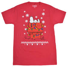 peanuts christmas t shirt peanuts snoopy christmas lights snowflakes men s t shirt
