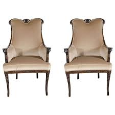 Occasional Chair Pair Of 1940s Hollywood Style Occasional Chairs By Grosfeld House