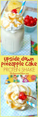 upside down pineapple cake protein shake the seasoned mom