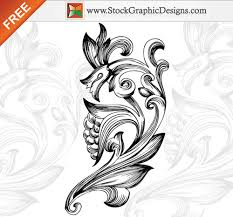35 free vector flourishes and swirls for inspiration 推酷