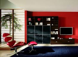 Ikea Red Cabinet Stunning Red And Black Living Room Decor Using Wall Mounted Media