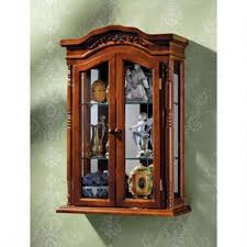 wall shelves amazon curio cabinet amazon com display cabinet beacon hill wall