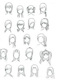 pictures draw anime hair drawing art gallery