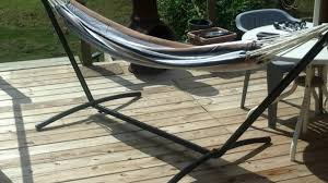 Hammock With Wood Stand Ollieroo Double Hammock With Space Saving Steel Stand And