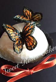 day of the dead cake toppers painted monarch butterfly cake toppers autumn wedding cake