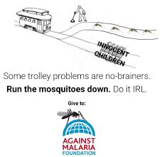 Memes Problem - today april 25th is world malaria day trolley problem