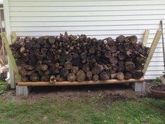 learn how to build a firewood rack to store and dry out logs diy