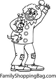 clown u0026 dog clown u0026 circus coloring pages free printable ideas