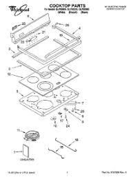Whirlpool Ceran Cooktop Parts For Whirlpool Glp85800 Range Appliancepartspros Com